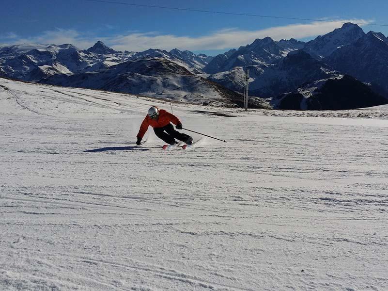 Skiing a mountain