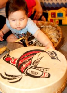 baby with drum