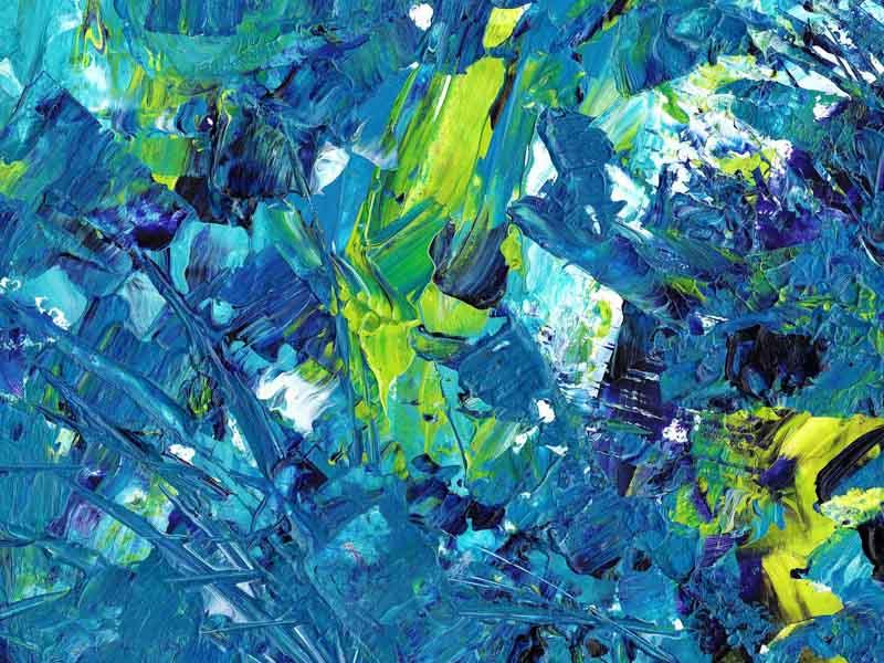 Abstract art blue green