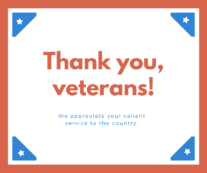 Veterans Day – Community Events 2019