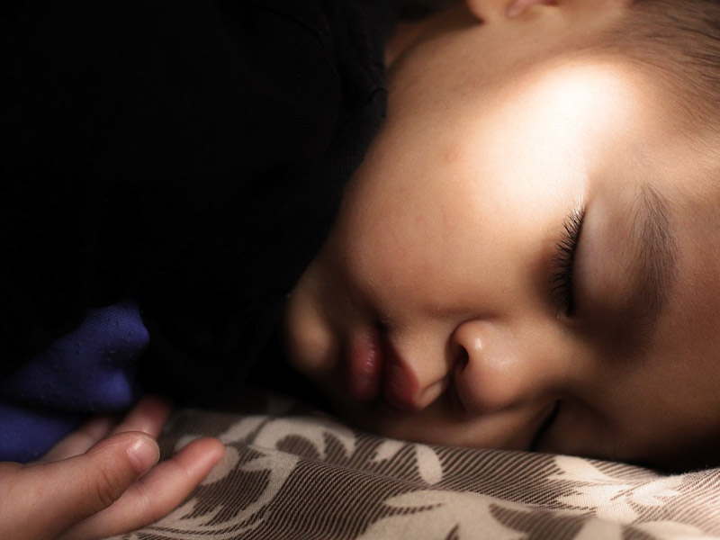 Face of child sleeping
