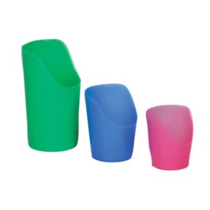 Cup in three colors
