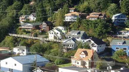 Houses line a hillside