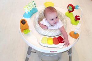 Baby in saucer